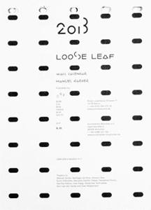 Loose Leaf– Wall Calendar 2013