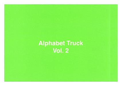 Alphabet Truck – vol.2