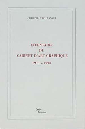 Inventaire du cabinet d'Art Graphique 1977-1998
