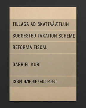 TILLAGA AD SKATAAETLUN – SUGGESTED TAXATION SCHEME – REFORMA FISCAL