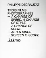 Trois films photographiés – A Change of Speed, A Change of Style, A Change of Scene – After birds – Screen O Scope.