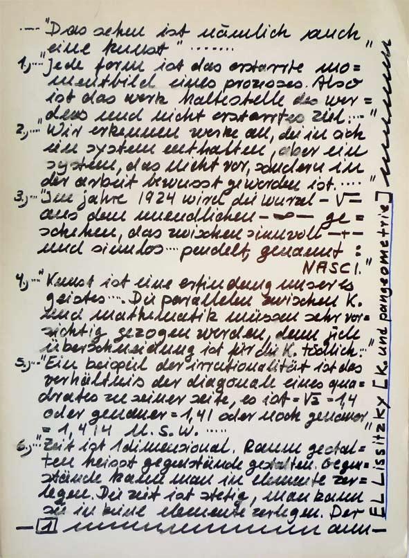 El Lissitsky (Kunst und pangeometrie)