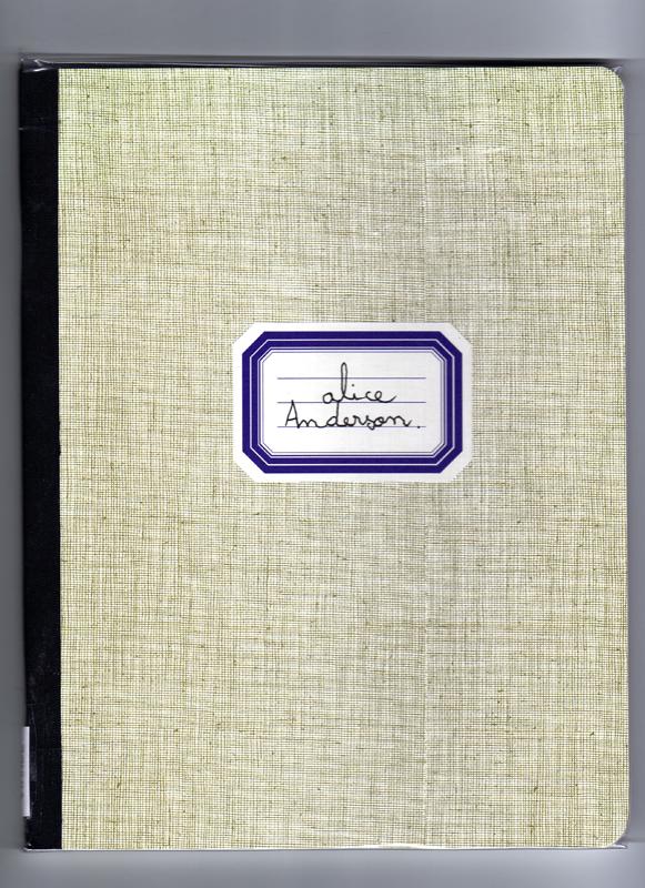 Cahier d'écolière