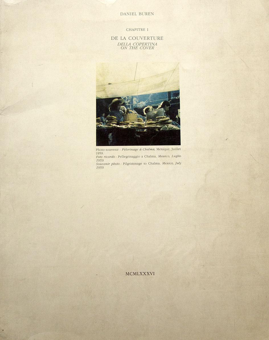 Chapitre I. De la couverture