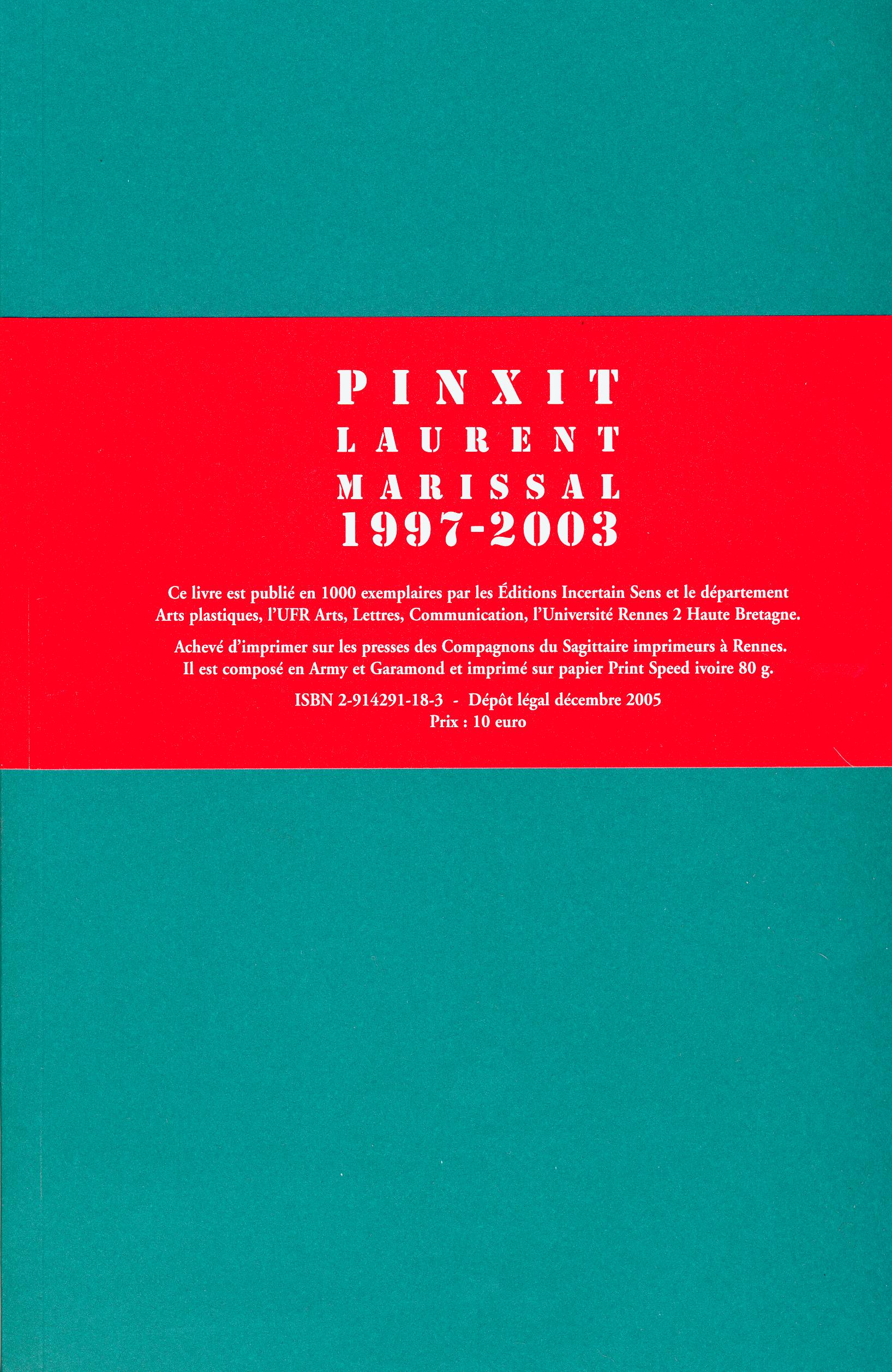 Pinxit 1997-2003