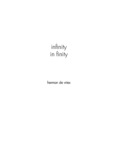 infinity, in finity