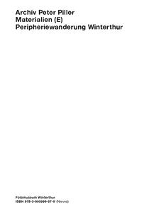 Materialien (E) Peripheriewanderung Winterthur