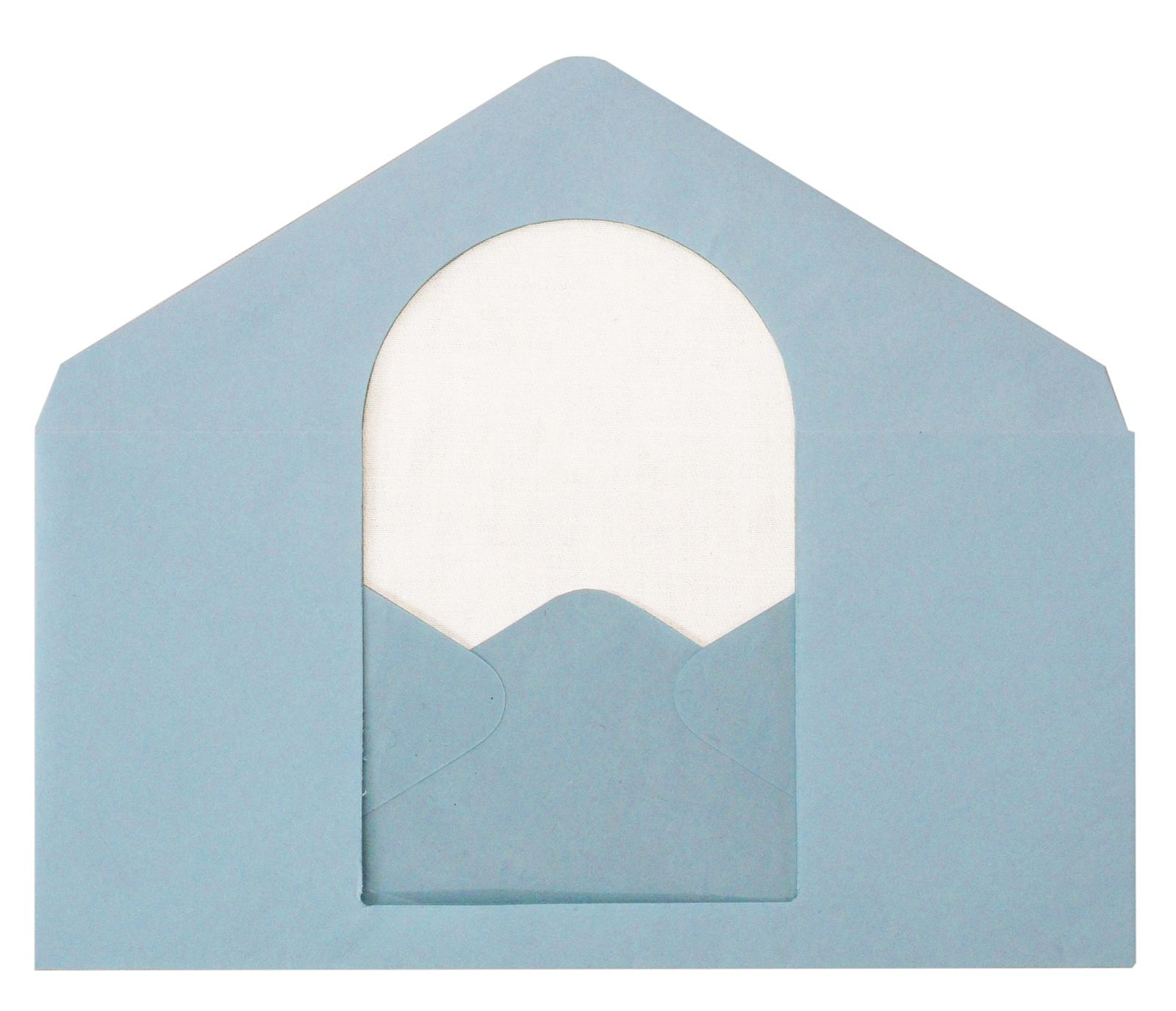 Envelope house (blue)
