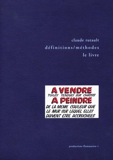 DÉFINITIONS / MÉTHODES LE LIVRE, 1973-2000