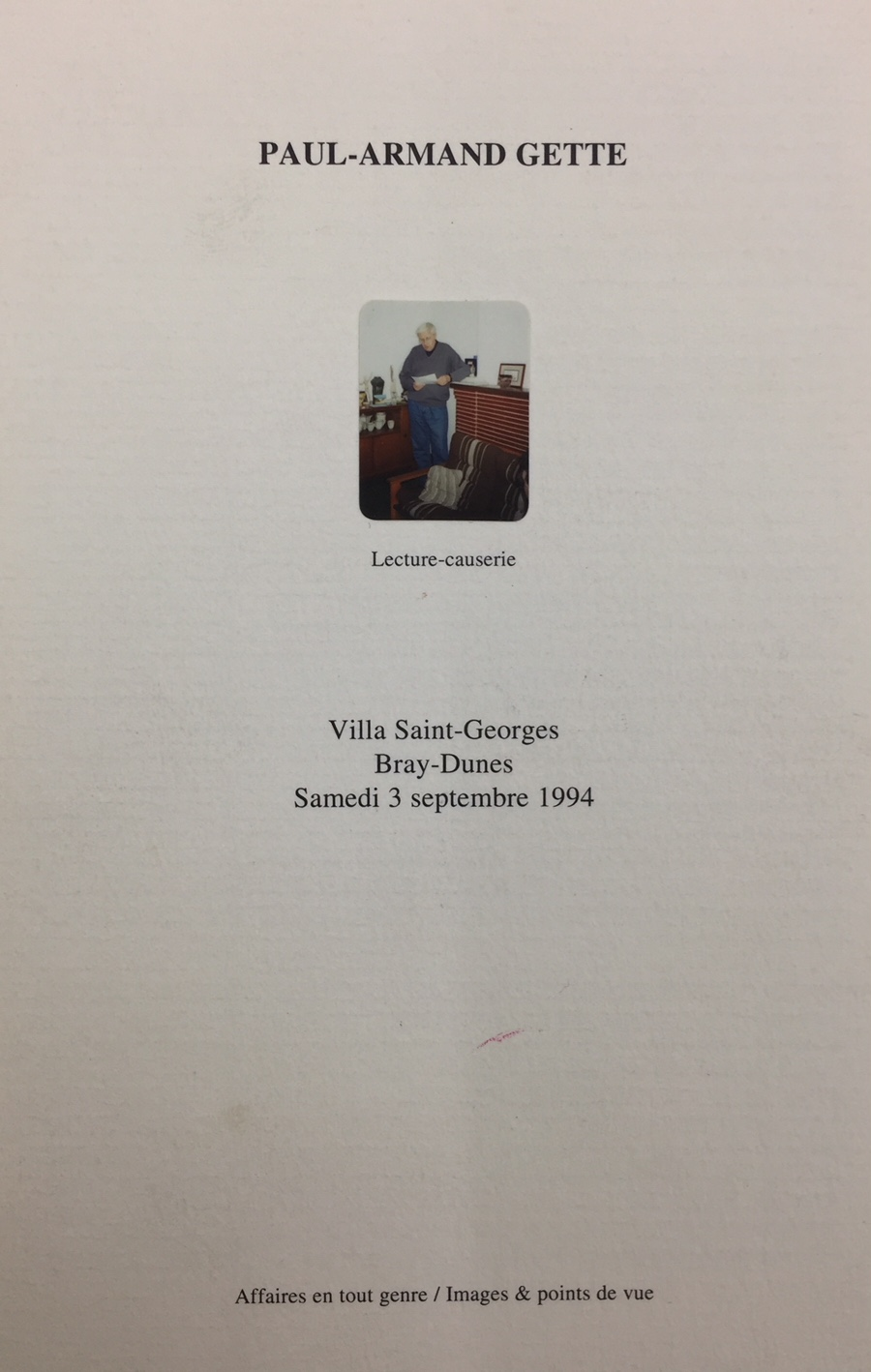 Lecture-causerie